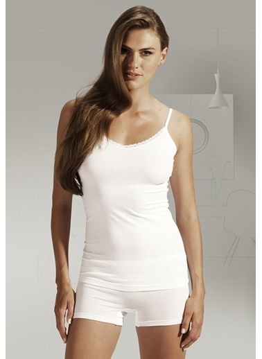 Penye Mood 4004 Bayan Dantelli Atlet  Beyaz